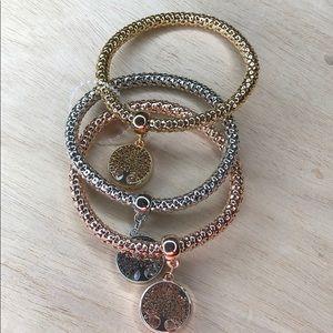 Jewelry - New! 3 bracelets bangles tree earth